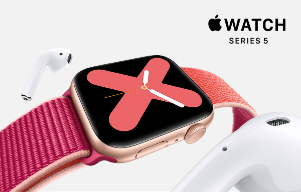 Image of Apple Watch with AirPods