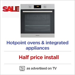 Half price install on Hotpoint built in appliances