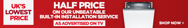 Half price on our unbeatable built-in installation service