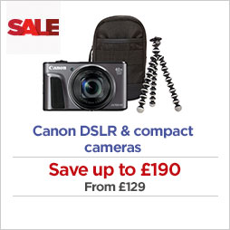 Save on Canon cameras