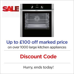 Up to £100 off marked price on over 1000 large kitchen appliances