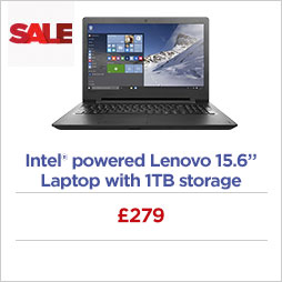 Intel® powered Lenovo 15.6 Laptop with 1TB storage
