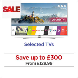 Save on selected TVs