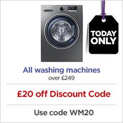 Save on washing machines - today only