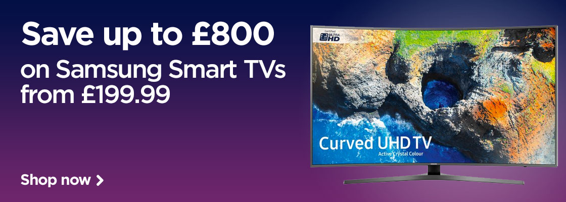 Save up to £300 on Samsung Smart 4k Ultra HD TVs