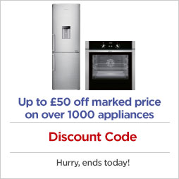 Discount code on over 1000 appliances