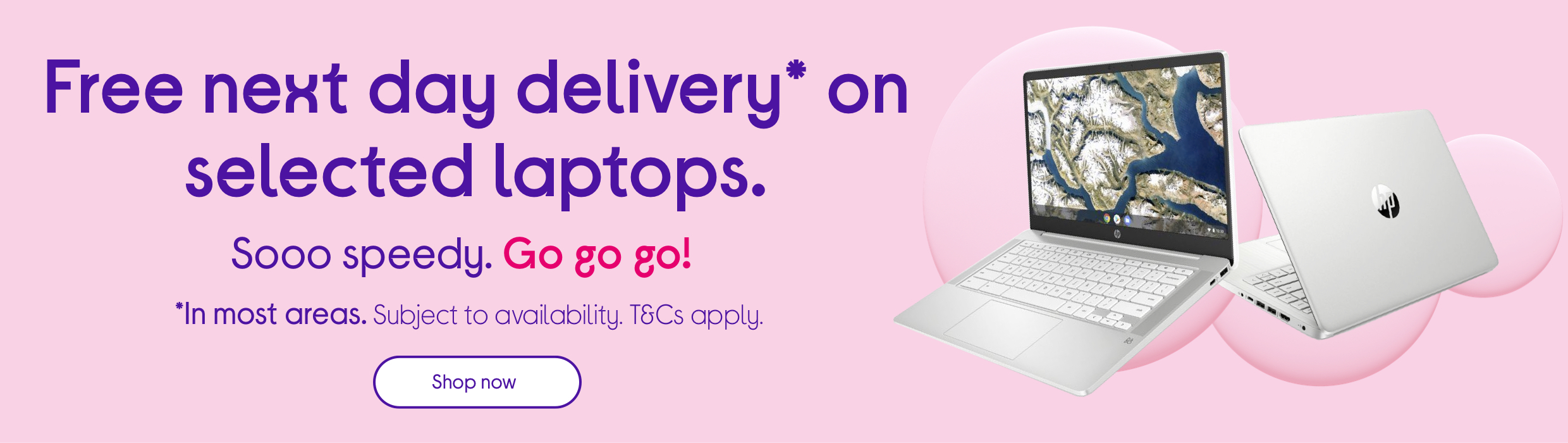 Free next day delivery on selected laptops