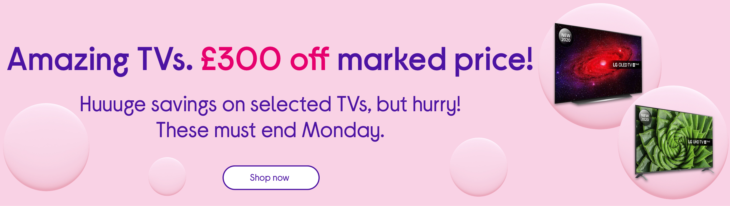 Amazing TVs. £300 off marked price!