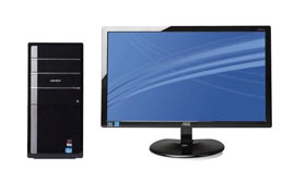 ADVENT DT2410 Desktop PC with e2343F 23 LED-Backlit Monitor
