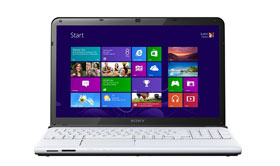 SONY VAIO E Series SVE1512B1EW 15.5 Laptop - White