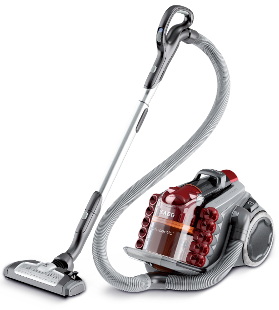 Aeg ultracaptic bagless vacuum cleaner for fast and hygienic clean