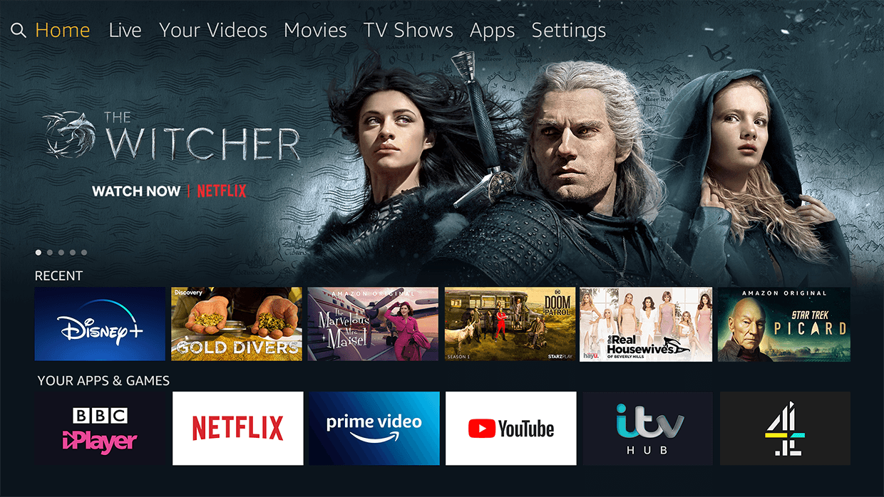 JVC with Amazon fireTV built in