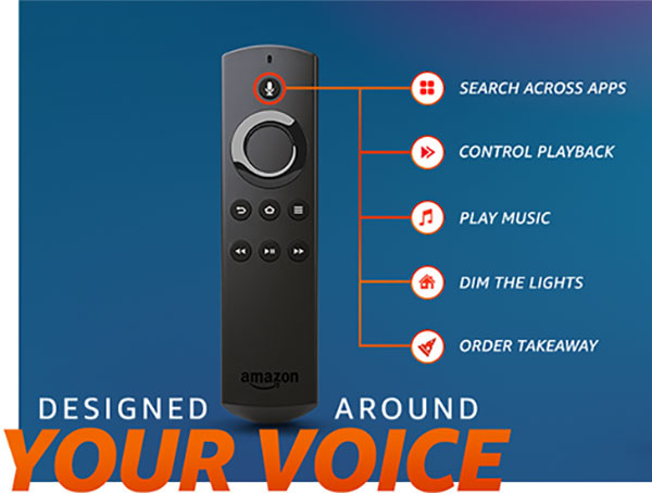 Amazon Fire TV Stick voice command