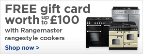 Free gift card worth up to £100 with Rangemaster Rangestyle cookers