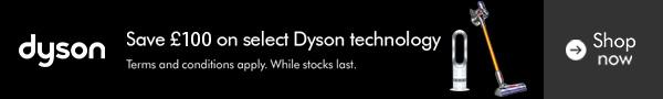 Save £100 on select Dyson technology