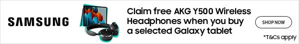 Samsung Galaxy Tablet Free Wireless AKG Headphones