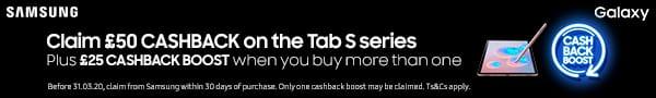 Samsung Tab S cashback