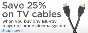 Save 25% on TV cables