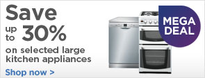 Save up to £150 on large home appliances