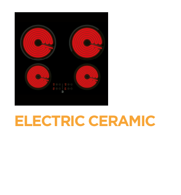 Electric ceramic hob