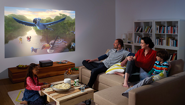 Commercial Family Watching Tv In Different Rooms