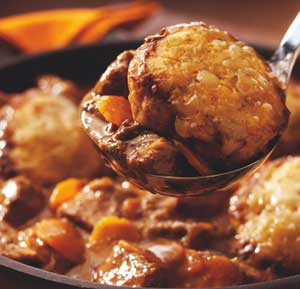 Beef cobbler recipe made using a food processor