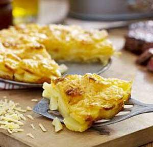 Potatoes au gratin recipe using a fryer