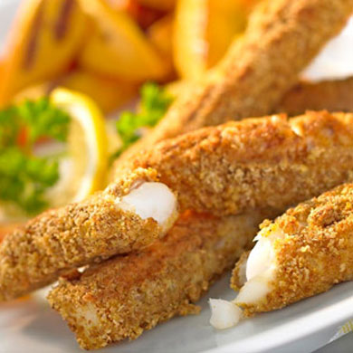 Curried Fish Goujons