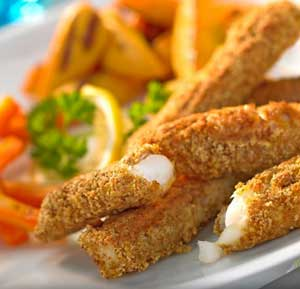 Curried Fish Goujons recipe made using a health grills