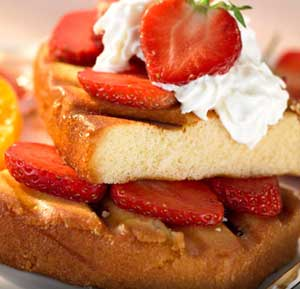 Grilled Strawberry maple shortcake recipe made using a health grills
