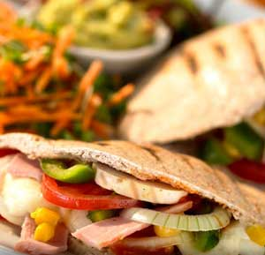 Healthy Pizza Pitta Pockets recipe made using a health grills