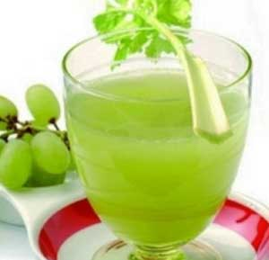 Celery and Grape Juice recipe made using a juicer