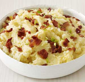 Bacon and Mint Mash recipe made using a mixer