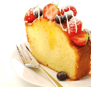 Orange Drizzle Cake With Summer Fruits recipe made using a mixer
