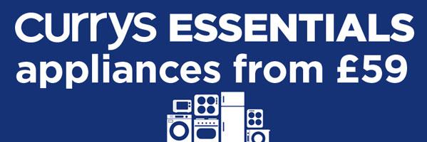 Save on Essnetials and logik large kitchen appliances