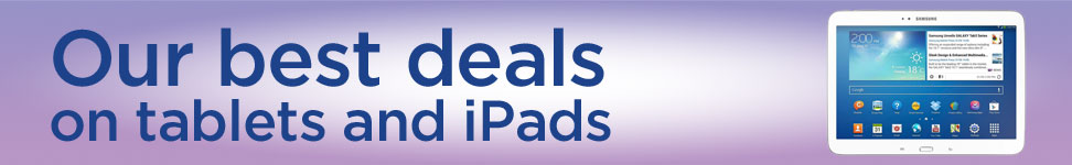 Our best deals on tablets and iPads