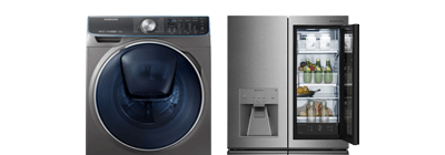Samsung washing machine and lg fridge.