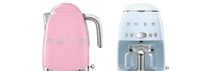 SMEG kettle and coffee machine.