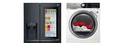 Dishwasher & fridge.