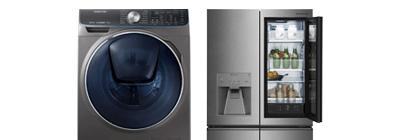 Samsung washing machine and lg fridge.