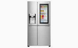 Silver american fridge freezer