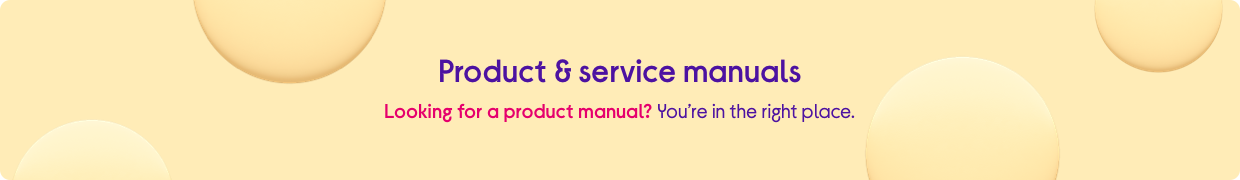 Looking for a product manual? You're in the right place