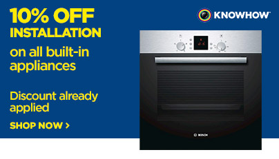 Save 10% off the marked price on all built in appliance installation