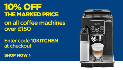 Save 10% off the marked price on all premium coffee machines over £150