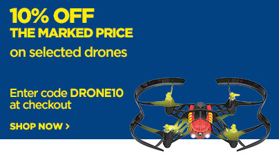 Save 10% off the marked price on selected drones