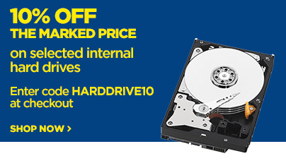 Save 10% off the marked price on selected Internal Hard Drives