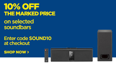 Save 10% off the marked price on selected soundbars