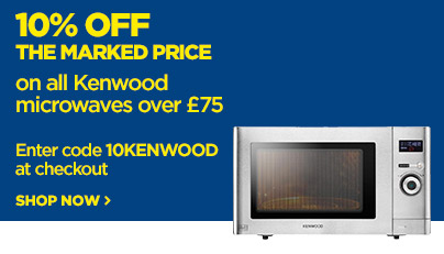 Save 10% off the marked price on Kenwood Microwaves over £75