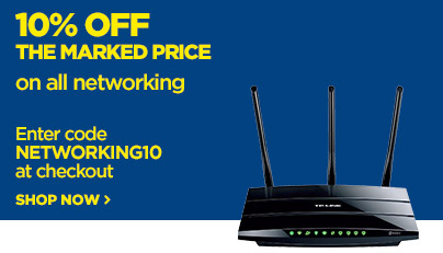 Save 10% off the marked price on all networking