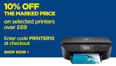 Save 10% off the marked price on all printers over £69